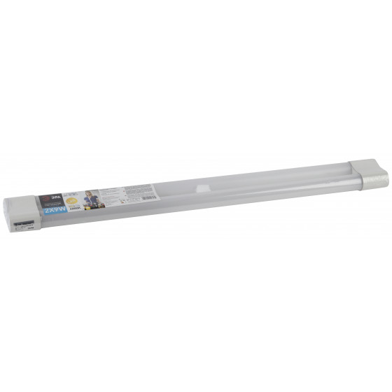 LLED-03-2х9W-4000-W ЭРА Линейный светодиодный светильник  2x9Вт 4000К L2*600мм разъем С7 (30/420)