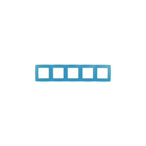 12-5005-28 ЭРА Рамка на 5 постов, Эра12, голубой (10/100/1600)