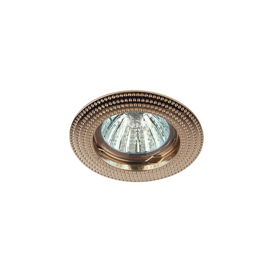 KL55 GD Светильник ЭРА литой  MR16,12V/220V, 50W золото (100/2100)