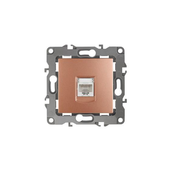 12-3107-14 ЭРА Розетка информационная RJ45, IP20, Эра12, медь (10/100/2500)