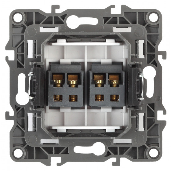 12-3112-13 ЭРА Розетка аудио двойная, IP20, Эра12, бронза (10/100/3200)