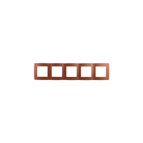 12-5005-14 ЭРА Рамка на 5 постов, Эра12, медь (10/100/2500)