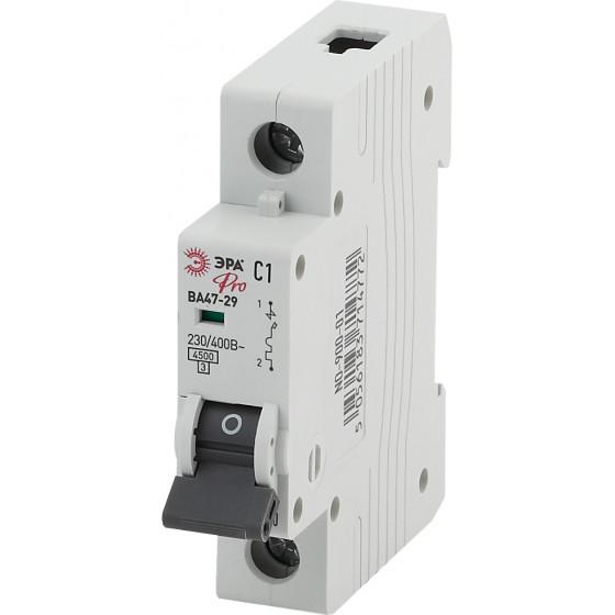 ЭРА Pro Автоматический выключатель NO-900-14 ВА47-29 1P 25А кривая C (12/180/5040)