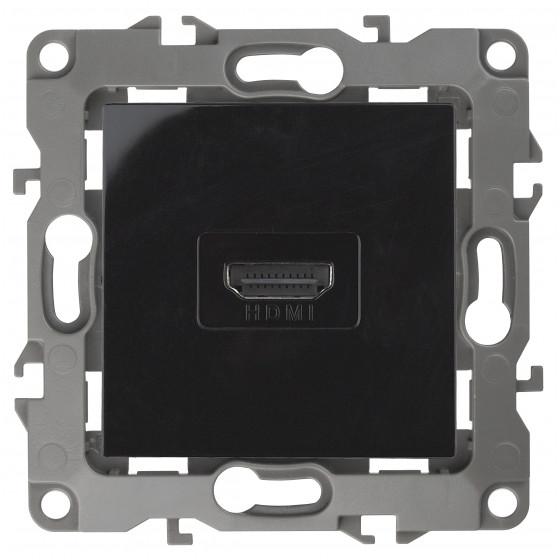 12-3114-06 ЭРА Розетка HDMI, IP20, Эра12, чёрный (10/100/3200)