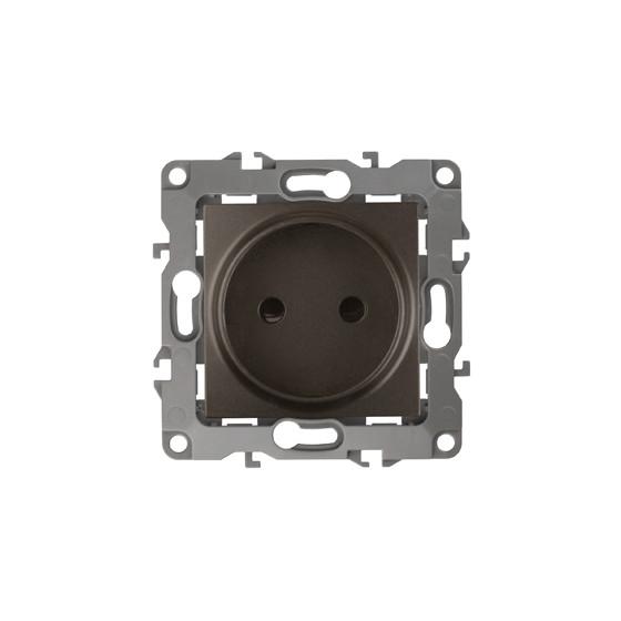 12-2105-13 ЭРА Розетка 2P, 16A-250В, IP20, Эра12, бронза (10/100/3200)