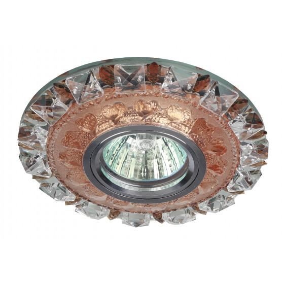 DK LD17 SL PK/WH Светильник ЭРА декор cо светодиодной подсветкой MR16, прозрачный розовый (50/1200)