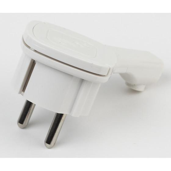V5(U) ЭРА Вилка ультраплоская c/з 16A с кольцом белая (10/60/1440)