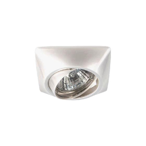 KL64A PS Светильник ЭРА литой пов. MR16,12V/220V, 50W перламутровое серебро (100/1200)