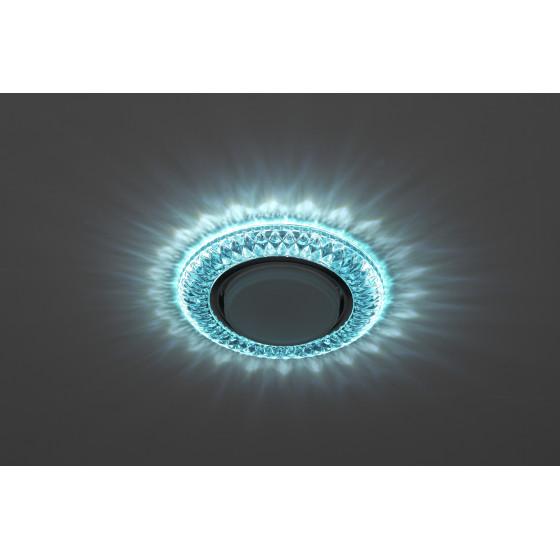 DK LD23 BL1/WH Светильник ЭРА декор cо светодиодной подсветкой Gx53, голубой (50/800)
