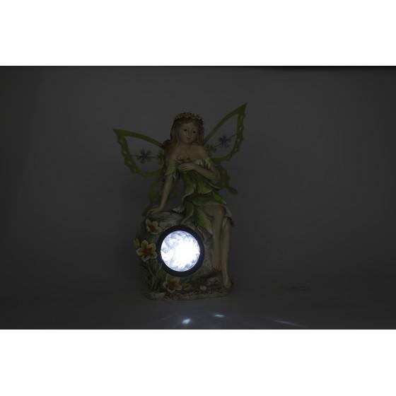 SL-RSN27-ELF ЭРА Садовый светильник на солнечной батарее, полистоун, цветной, 27 см (8/96)