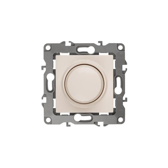 12-4101-02 ЭРА Светорегулятор поворотно-нажимной, 400ВА 230В, IP20, Эра12, слоновая кость (6/60/1920