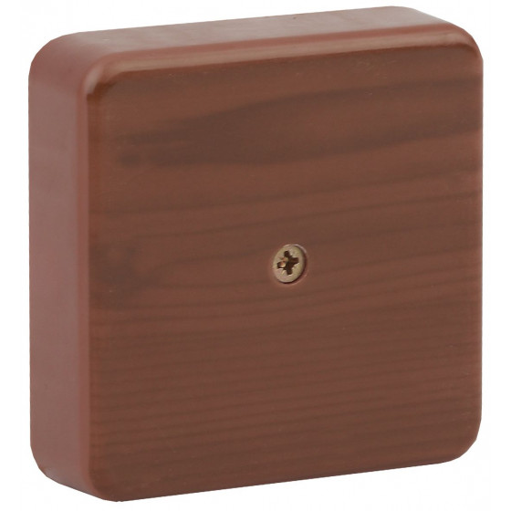ЭРА Коробка распаячная 100х100х30 (без клеммы) дуб IP40 ЭРА (50/1500)