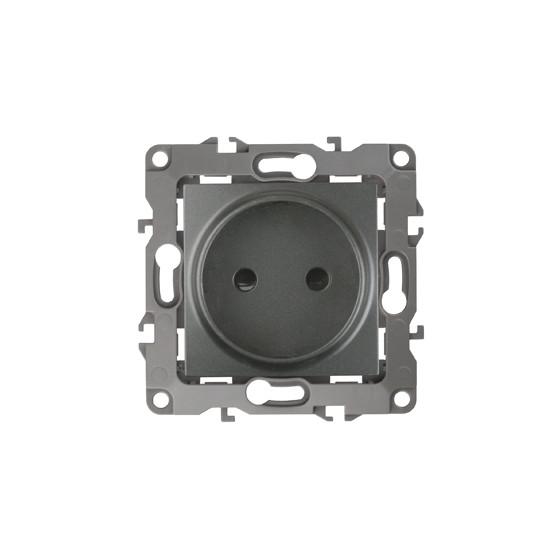 12-2105-12 ЭРА Розетка 2P, 16A-250В, IP20, Эра12, графит (10/100/2500)