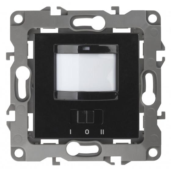 12-4103-06 ЭРА Датчик движения 2-проводной, 180-240В, 200Вт, IP20, Эра12, чёрный (6/60/1800)