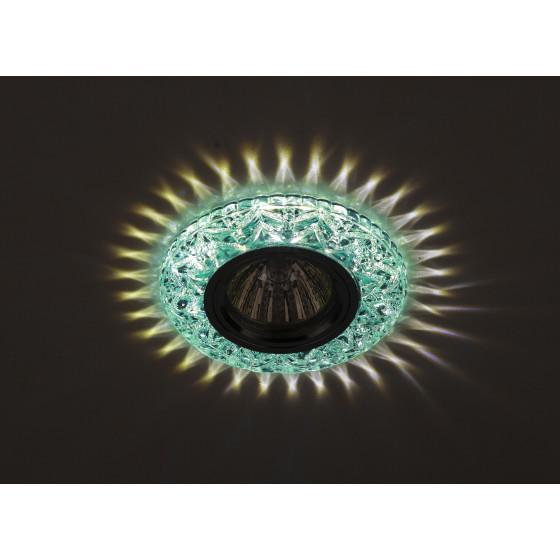 DK LD4 BL/WH Светильник ЭРА декор cо светодиодной подсветкой MR16, голубой (50/1400)
