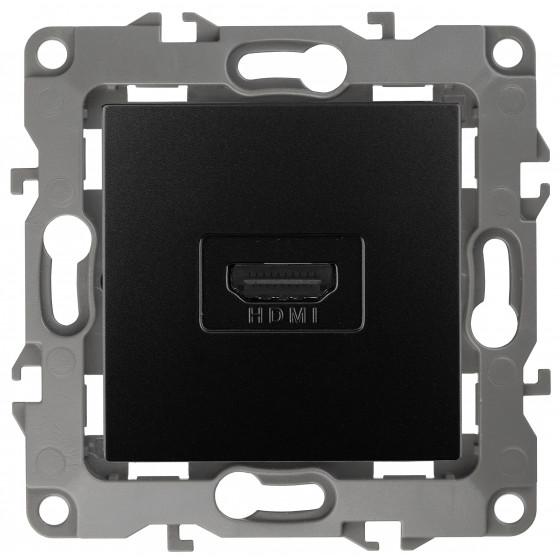 12-3114-05 ЭРА Розетка HDMI, IP20, Эра12, антрацит (10/100/3200)