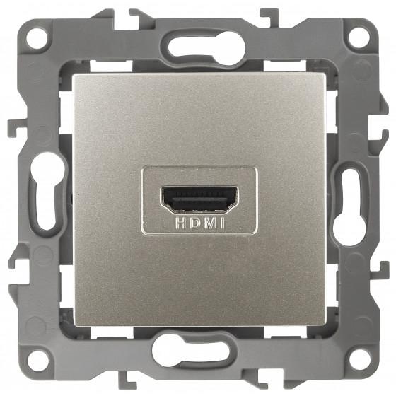 12-3114-15 ЭРА Розетка HDMI, IP20, Эра12, перламутр (10/100/3200)