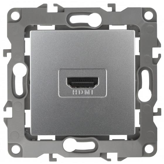 12-3114-03 ЭРА Розетка HDMI, IP20, Эра12, алюминий (10/100/3200)