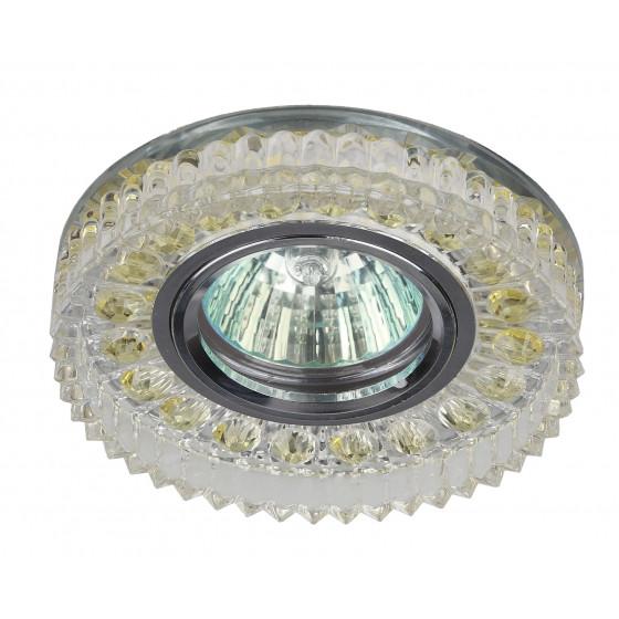 DK LD14 SL/WH Светильник ЭРА декор cо светодиодной подсветкой MR16, прозрачный (50/1050)