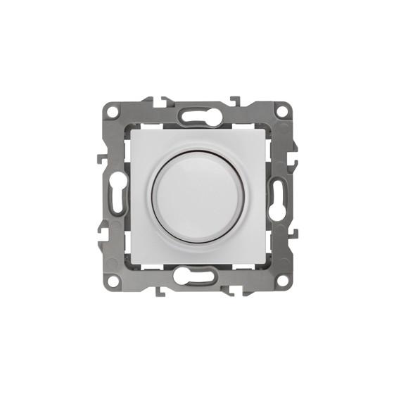 12-4101-01 ЭРА Светорегулятор поворотно-нажимной, 400ВА 230В, IP20, Эра12, белый (6/60/1920)