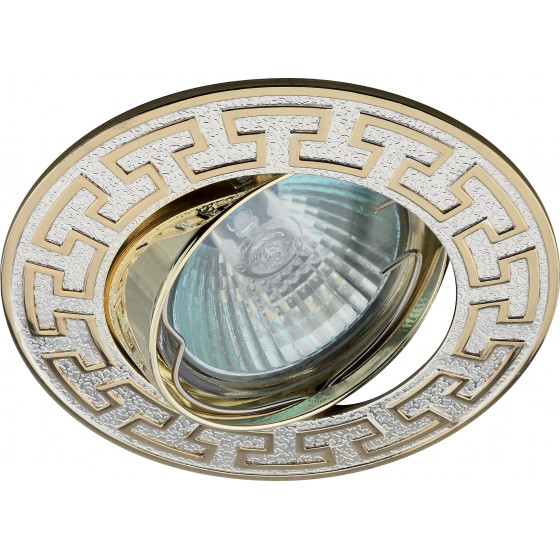 "KL28 А S/GD Светильник ЭРА литой пов. ""антик Т"" MR16,12V/220V, 50W   серебро/золото (100/2100)"