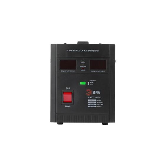 СНПТ-2000-Ц ЭРА Стабилизатор напряжения переносной, ц.д., 140-260В/220/В, 2000ВА (4/80)