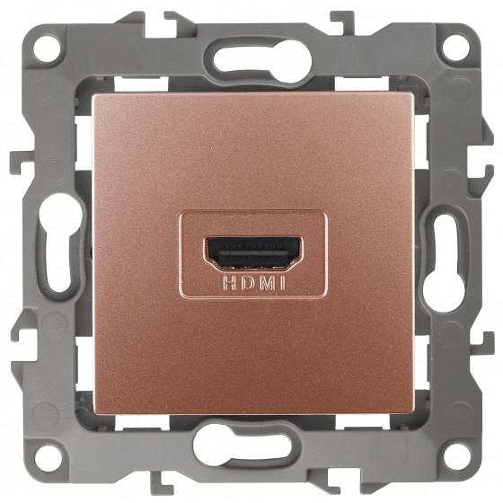 12-3114-14 ЭРА Розетка HDMI, IP20, Эра12, медь (10/100/3200)