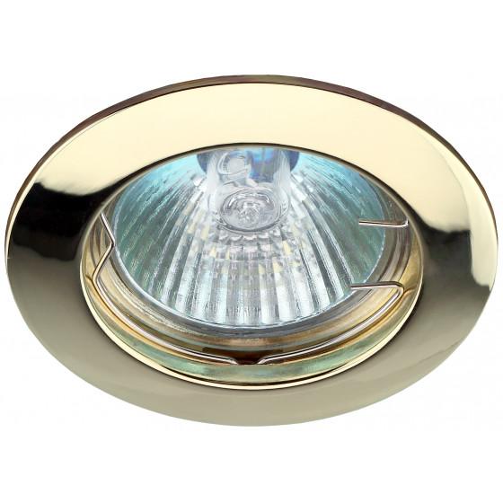 KL1 GD Светильник ЭРА литой простой MR16,12V, 50W золото (100/2100)