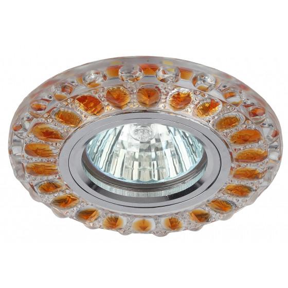 DK LD10 SL OR/WH Светильник ЭРА декор cо светодиодной подсветкой MR16, прозрачный оранжевый (50/1400