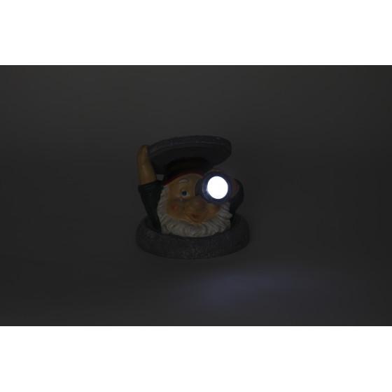 SL-RSN11-GNS ЭРА Садовый светильник на солнечной батарее, полистоун, цветной, 11 см (48/384)