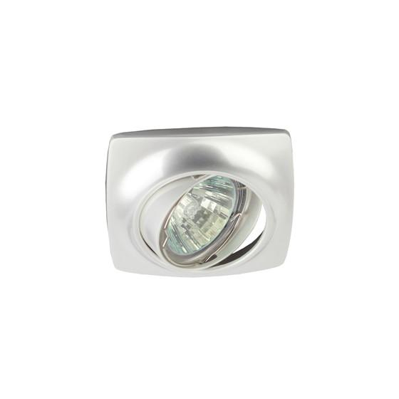 KL63A PS Светильник ЭРА литой пов. MR16,12V/220V, 50W перламутровое серебро (100/1200)
