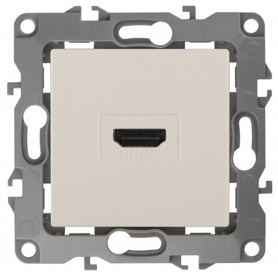 12-3114-02 ЭРА Розетка HDMI, IP20, Эра12, слоновая кость (10/100/3200)