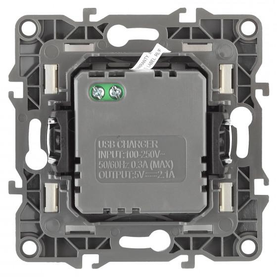 12-4110-01 ЭРА Устройство зарядное USB, 230В/5В-2100мА, IP20, Эра12, белый (6/60/1440)