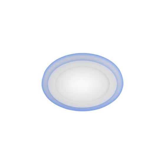LED 3-6 BL Светильник ЭРА светодиодный круглый c cиней подсветкой LED 6W 220V 4000K (40/960)
