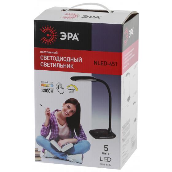 ЭРА наст.светильник NLED-451-5W-BK черный (12/72)