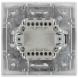 1-102-01 Intro Выключатель с подсветкой, 10А-250В, IP20, СУ, Plano, белый (10/200/2400)