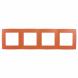 12-5004-22 ЭРА Рамка на 4 поста, Эра12, оранжевый (10/100/2000)