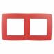 12-5002-23 ЭРА Рамка на 2 поста, Эра12, красный (10/100/2500)