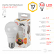 LED A60-17W-827-E27 ЭРА (диод, груша, 17Вт, тепл, E27) (10/100/1200)