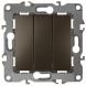 12-1107-13 ЭРА Выключатель тройной, 10АХ-250В, IP20, Эра12, бронза (10/100/2500)