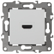 12-3114-01 ЭРА Розетка HDMI, IP20, Эра12, белый (10/100/3200)