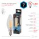 F-LED BTW-7W-840-E14 ЭРА (филамент, свеча витая, 7Вт, нейтр, E14) (10/100/2800)