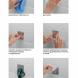 СИЛА Крючок металл. на силикон. крепл. 10х10, ВЕНГЕ, до 2,5 кг, СПЕЦ [SSH10-S1WN-12] (12/144/1728)