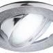 """DK18 CH/SH SL Светильник ЭРА декор """"круглый  со стеклянной крошкой"""" MR16,12V/220V, 50W, хром/серебря"""