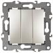 12-1107-15 ЭРА Выключатель тройной, 10АХ-250В, IP20, Эра12, перламутр (10/100/2500)