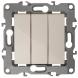 12-1107-02 ЭРА Выключатель тройной, 10АХ-250В, IP20, Эра12, слоновая кость (10/100/3200)
