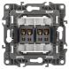 12-3112-15 ЭРА Розетка аудио двойная, IP20, Эра12, перламутр (10/100/3200)