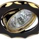 """KL12A GU/G Светильник ЭРА литой пов. """"звезда"""" MR16,12V/220V, 50W черный металл/золото (100/1800)"""