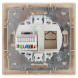 Розетка Intro Plano 1-303-02 информационная RJ45, IP20, СУ, слоновая кость
