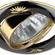 KL3A GU/G Светильник ЭРА литой круг. пов. с гравировкой MR16,12V/220V, 50W черный металл/золото (100